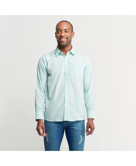 Camisa-Social-Masculina-Azul-Lisa---4