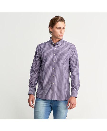 Camisa-Social-Masculina-Lilas-Listrada-com-Bolso---3