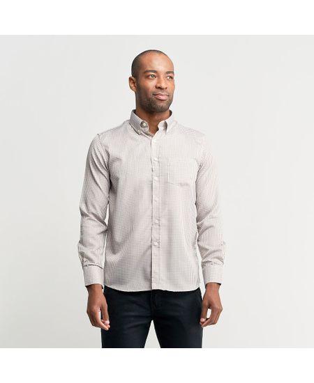 Camisa-Social-Masculina-Marrom-Xadrez---2