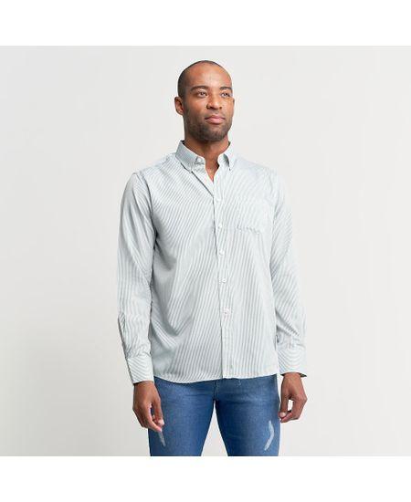 Camisa-Social-Masculina-Verde-Listrada---1