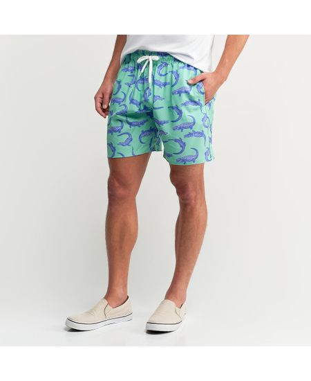 Shorts-Verde-Estampado-----P