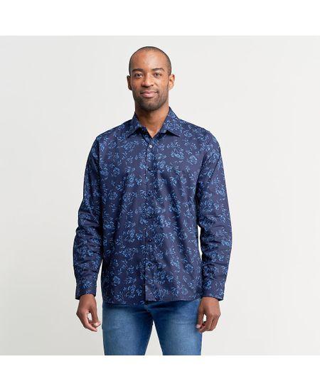 Camisa-Azul-Estampada